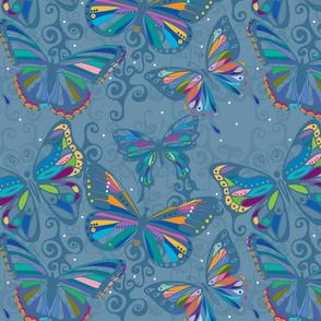 medium blue butterflies