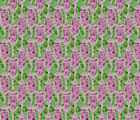 a toast in wine fabric by glimmericks on Spoonflower - custom fabric