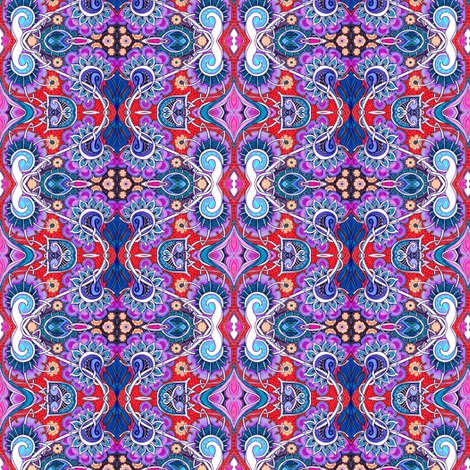 Inside Jeannie's Bottle fabric by edsel2084 on Spoonflower - custom fabric