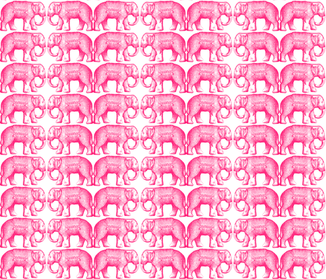 The Pink Elephant fabric by sararhode on Spoonflower - custom fabric