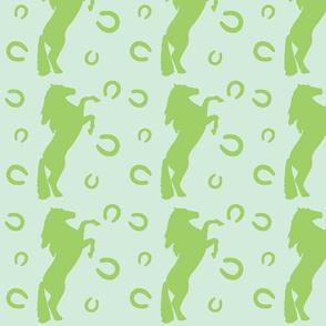 Stallion in green