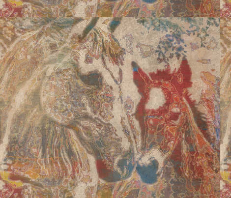 HER LITTLE COLT TAPESTRY BY WBK fabric by art4good on Spoonflower - custom fabric