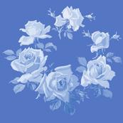 Blue Rose Wreath Dark Blueberry