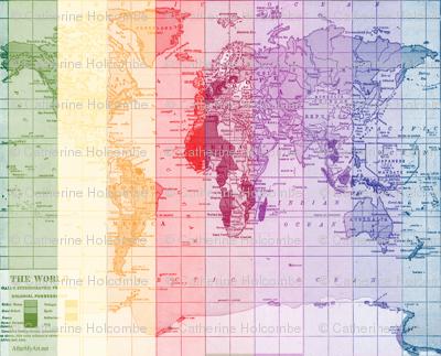 Rainbow World Map
