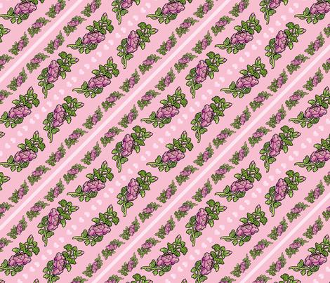 pretty begonias fabric by hannafate on Spoonflower - custom fabric