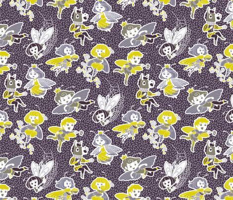 Nick and the Fairies fabric by siya on Spoonflower - custom fabric