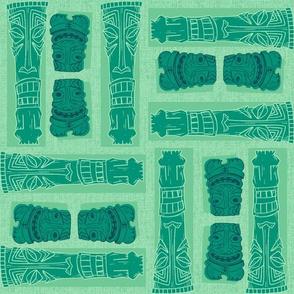 Mid-Century Tiki Gods GREEN