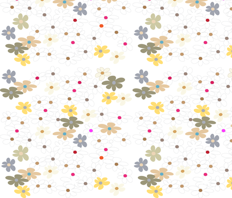SOOBLOO_FLOWERS_366-1-01 fabric by soobloo on Spoonflower - custom fabric