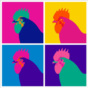 pop art chicken pillow