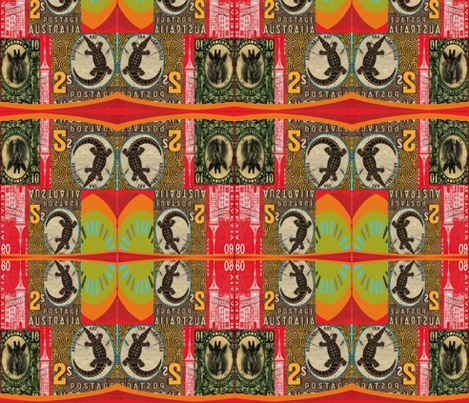 african print postage stamps fabric by lbehrendtdesigns on Spoonflower - custom fabric