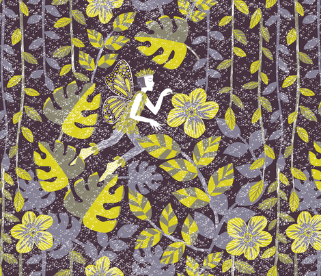 Puck & Love-in-Idleness fabric by gracedesign on Spoonflower - custom fabric