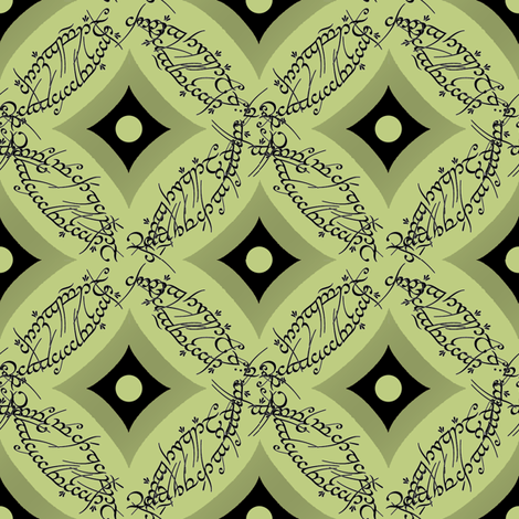 One Ring Cathedral Window fabric by fentonslee on Spoonflower - custom fabric