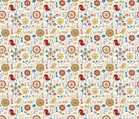 Summer  fabric by valendji on Spoonflower - custom fabric