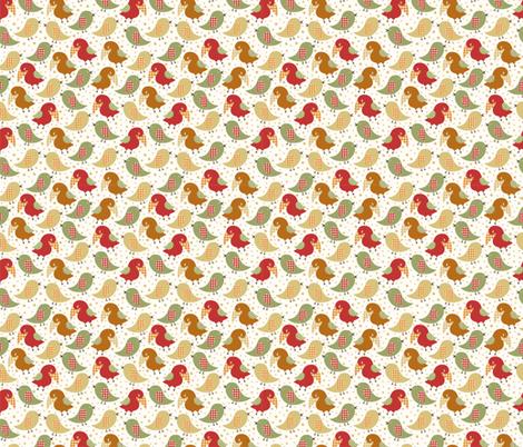 Birds fabric by valendji on Spoonflower - custom fabric