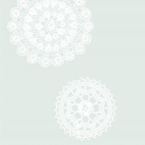 Shabby Chic Doilies Teal