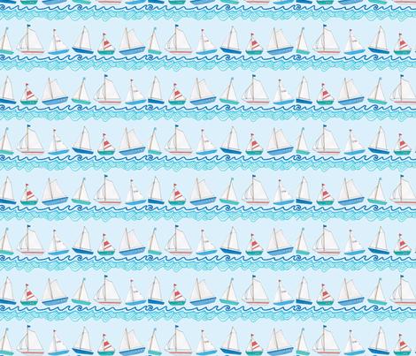 Sailing Boats fabric by hazelfishercreations on Spoonflower - custom fabric