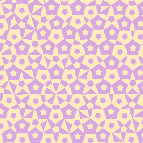 quasicrystal stars (pink and yellow) fabric by weavingmajor on Spoonflower - custom fabric