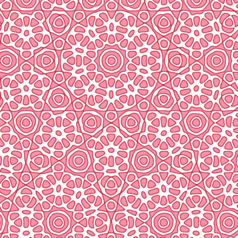 Spring Floral in pink fabric by weavingmajor on Spoonflower - custom fabric