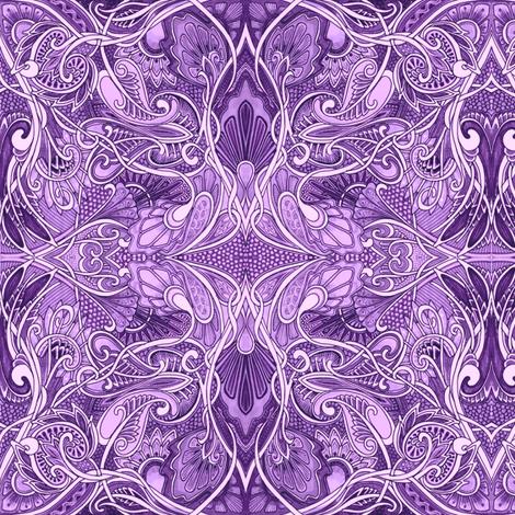 Undulating Purple Fantasy World fabric by edsel2084 on Spoonflower - custom fabric