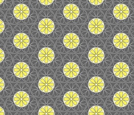 Lemons fabric by happyprintsshop on Spoonflower - custom fabric