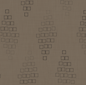 Fading Squares (brown linen)