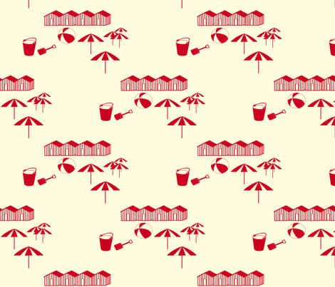 Beach Club fabric by kiki_ on Spoonflower - custom fabric