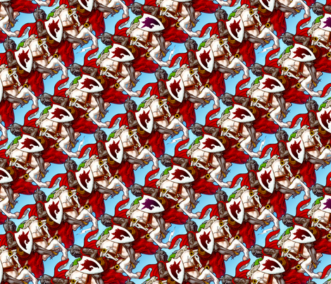 War horse charge fabric by hannafate on Spoonflower - custom fabric