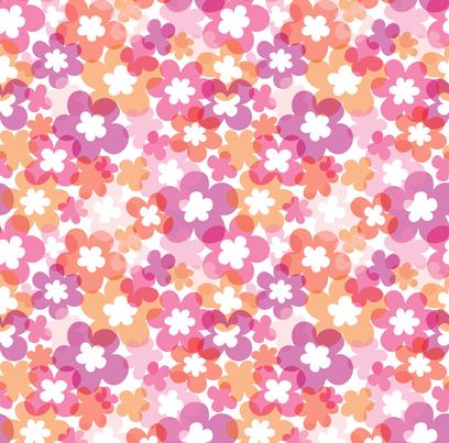 Modern Flower Child Floral fabric by minimiel on Spoonflower - custom fabric