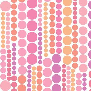 Modern Flower Child Dot Stripe