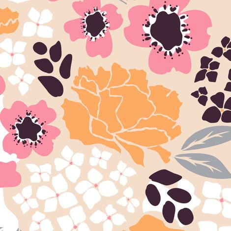 Raleigh Dogwood Bright fabric by chrissievh on Spoonflower - custom fabric