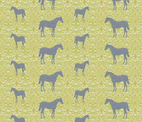ikatcharcoalhorse fabric by ragan on Spoonflower - custom fabric