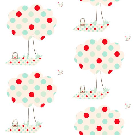 A polka Dot Picnic fabric by karenharveycox on Spoonflower - custom fabric