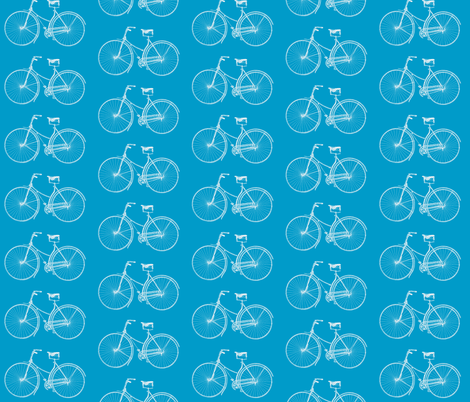 Turquoise Bikes fabric by lizziebdesigns on Spoonflower - custom fabric