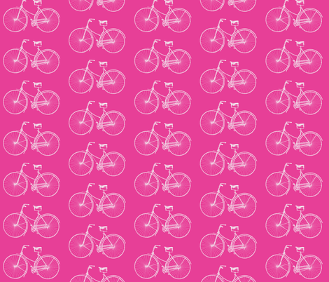 Hot Pink Bikes fabric by lizziebdesigns on Spoonflower - custom fabric