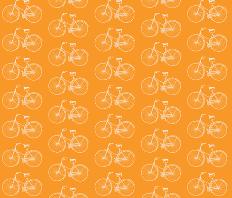 Bright Orange Bikes fabric by lizziebdesigns on Spoonflower - custom fabric