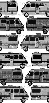 vans black and white