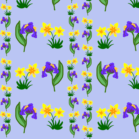 Early Spring Flowers fabric by ravynscache on Spoonflower - custom fabric