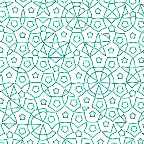 quasicrystal stars (aqua glow) fabric by weavingmajor on Spoonflower - custom fabric