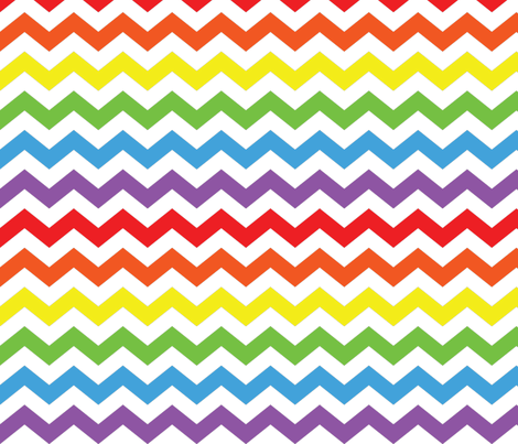 Rainbow Chevron fabric by happyprintsshop on Spoonflower - custom fabric
