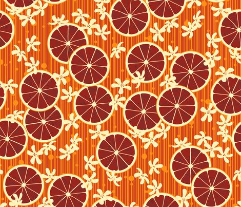Blood Orange Allegria fabric by siya on Spoonflower - custom fabric