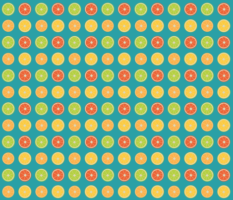 Citrus Dots fabric by brandymiller on Spoonflower - custom fabric