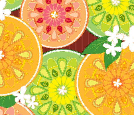 citrus punch fabric by liluna on Spoonflower - custom fabric