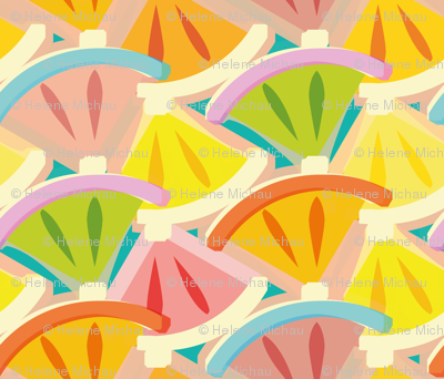 Stylized slices of citrus