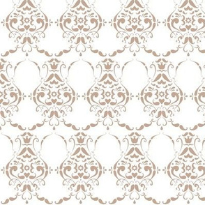 Low Contrast Moustache Damask