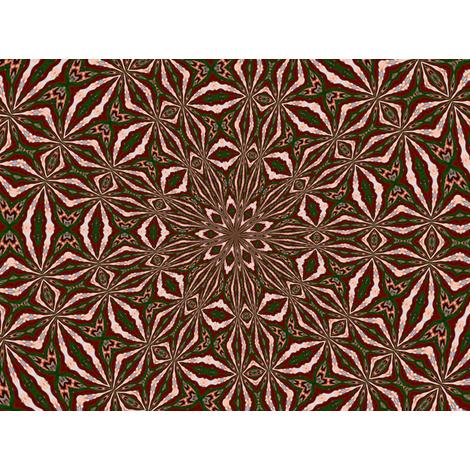 Kaleidescope 0824 k1 k1 a red fabric by wyspyr on Spoonflower - custom fabric