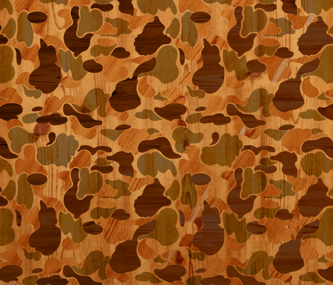Woodgrain Camo fabric by dvowr on Spoonflower - custom fabric