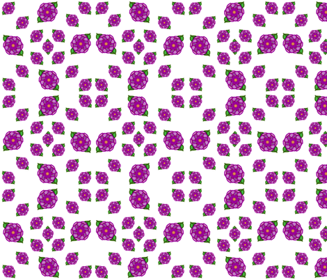 Purple Dahlias fabric by ravynscache on Spoonflower - custom fabric