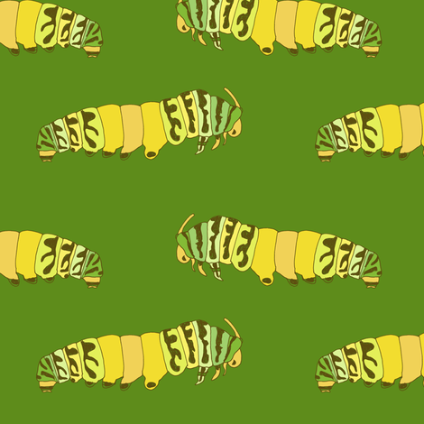 caterpillars fabric by randomarticle on Spoonflower - custom fabric