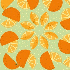 oranges all around