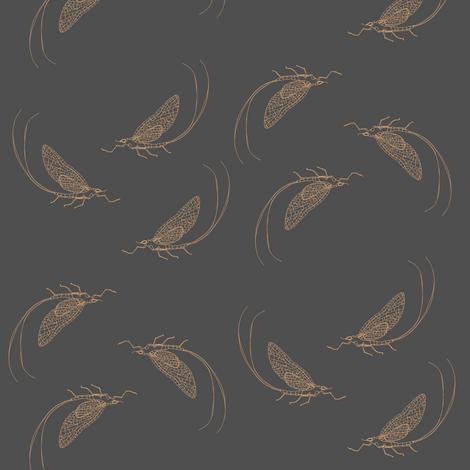 mayfly gray fabric by randomarticle on Spoonflower - custom fabric